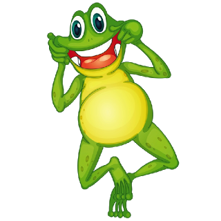 320x320 Funny Frog Clipart