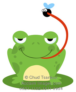 247x300 Image Of A Frog Catching A Fly With Its Long Tongue