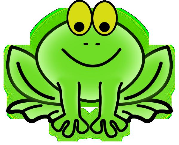 600x486 Bug Eyed Frog Clip Art