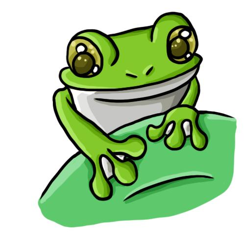 500x500 Cartoon Frog Clip Art