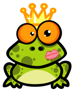 244x300 Kissing Frog Clipart Image