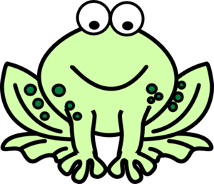 300x258 Two Tone Frog Clip Art