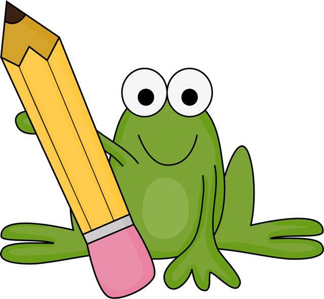 640x590 Frog With Pencil Clipart Amp Frog With Pencil Clip Art Images
