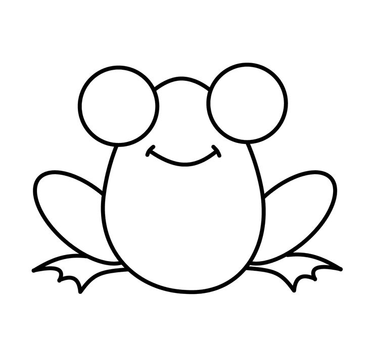 Frog simple. Collection of clipart free