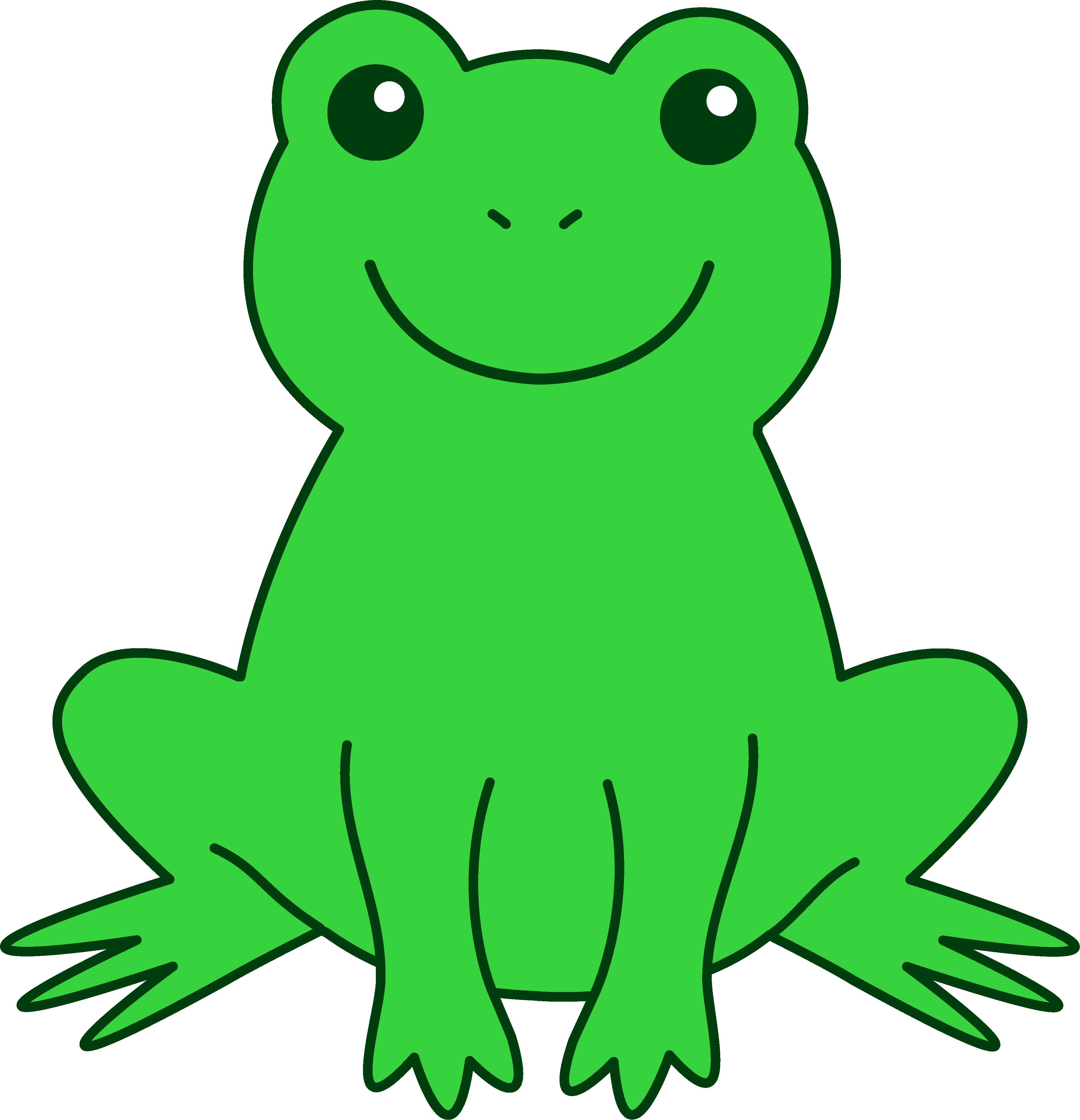 3704x3841 Frog Clip Art For Kids Clipart Panda