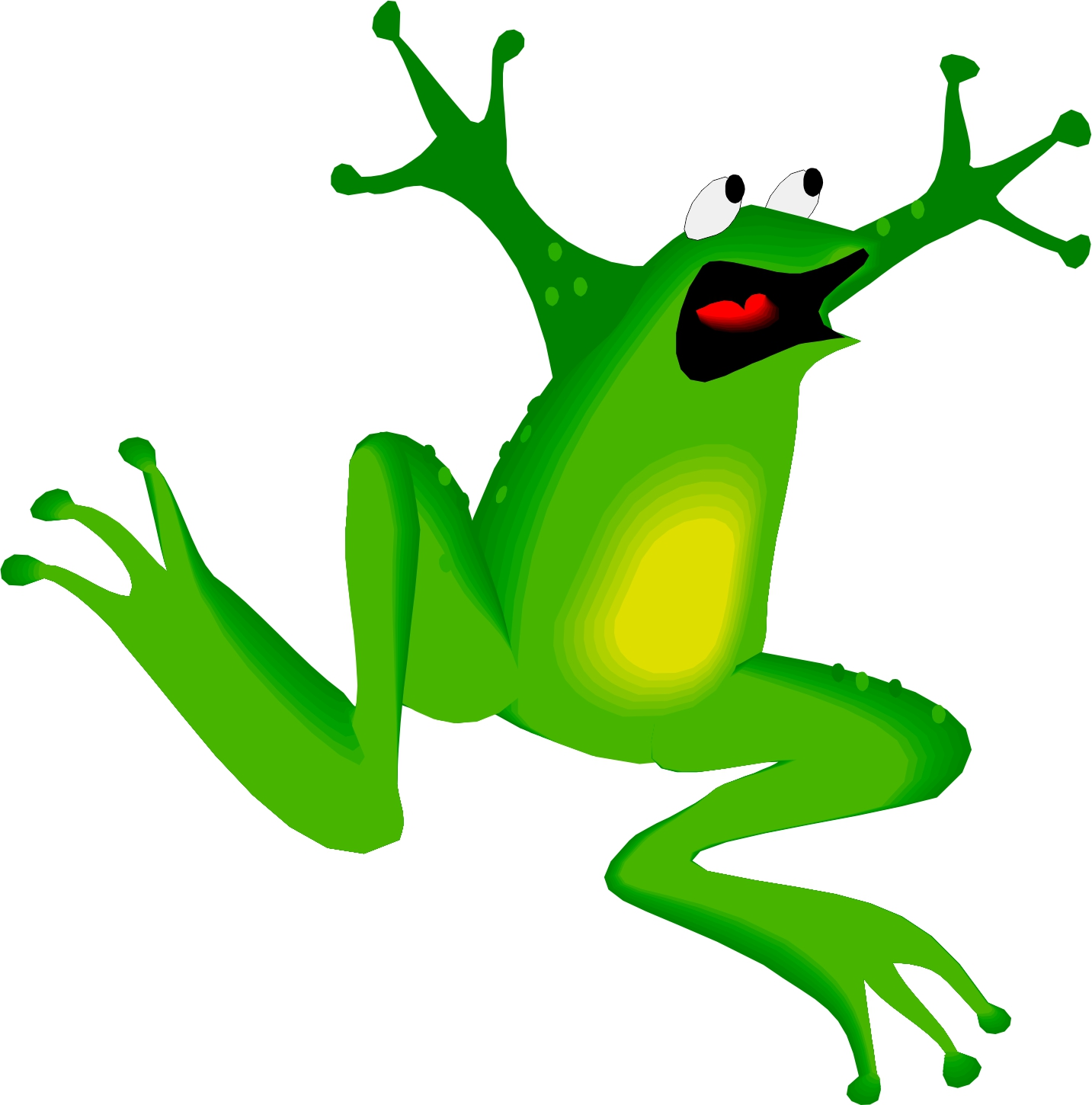 1433x1450 Free Hopping Frog Clipart Image
