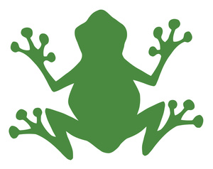 300x238 Frog Silhouette Free Clipart Images