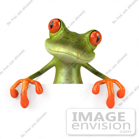 450x450 Royalty Free Clipart Illustration Of A Cute 3d Red Eyed Tree Frog