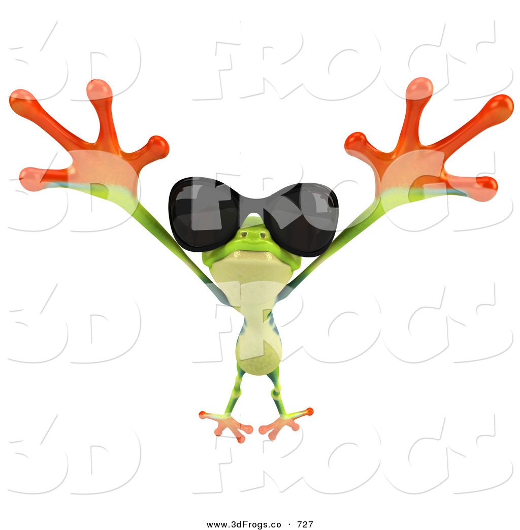 1024x1044 Frog Jumping Clipart