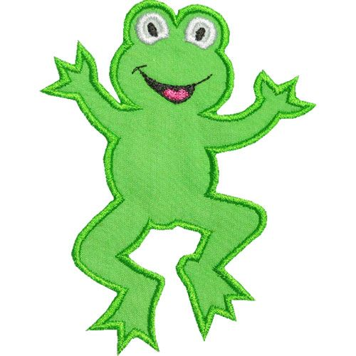 500x500 Amphibian Clipart Leaping Frog