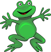 167x170 Free Frog Clipart