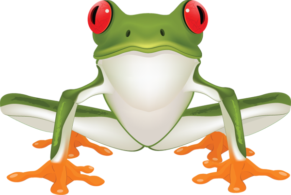 600x403 Free Tree Frog Clipart Image