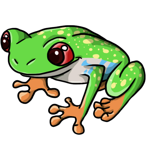 500x500 Free Frog Clip Art Drawings Andlorful Images