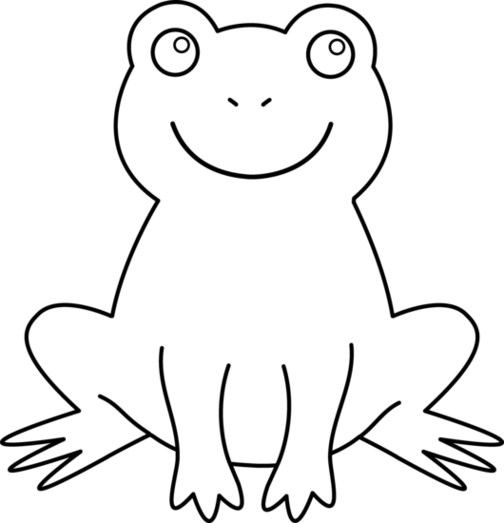 504x523 Frog Black And White Black And White Cartoon Frog Clip Art