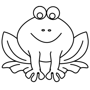 300x300 Frog Line Art Clipart, Cliparts Of Frog Line Art Free Download