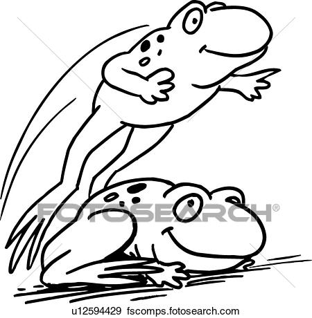 450x460 Clip Art Of Leap Frogs U12594429