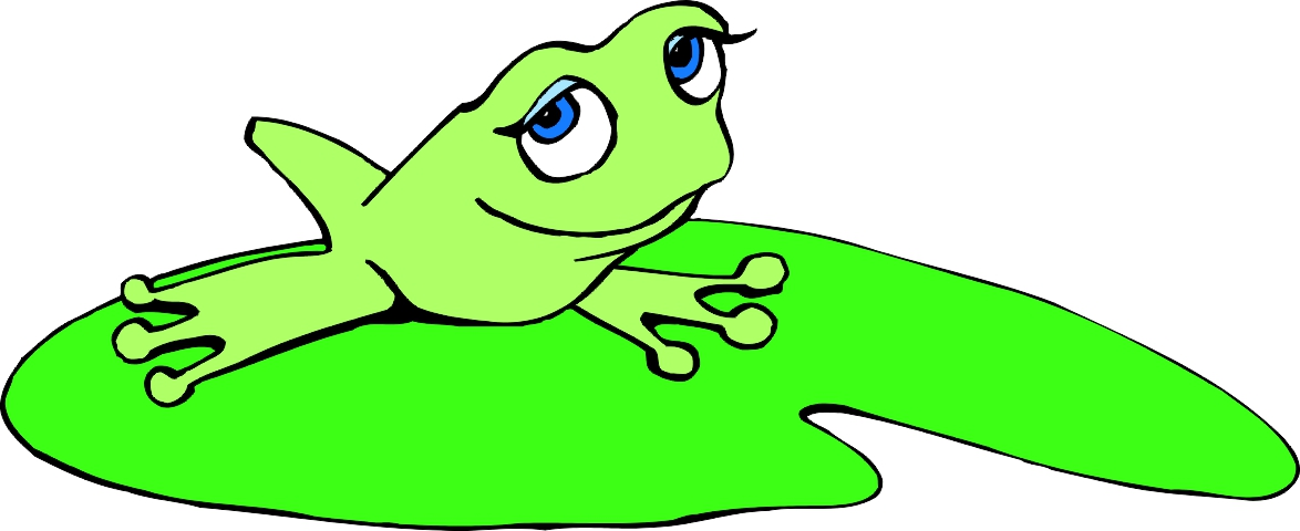 1174x480 Best Frog On Lily Pad Clipart
