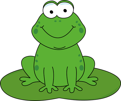500x415 Cartoon Frog On A Lily Pad Clip Art