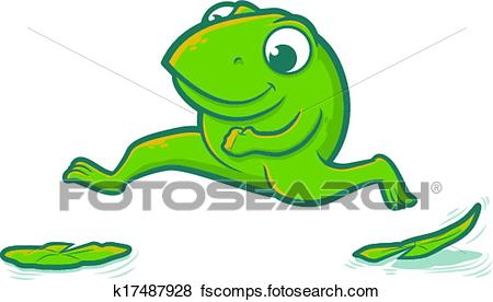 450x276 Clip Art Of Leaping Frog K17487928