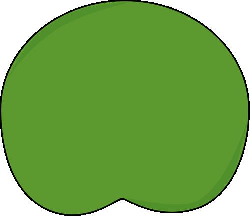 500x432 Dark Green Lily Pad Clip Art