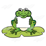 160x160 Abeka Clip Art Frog Holding A Lily Pad