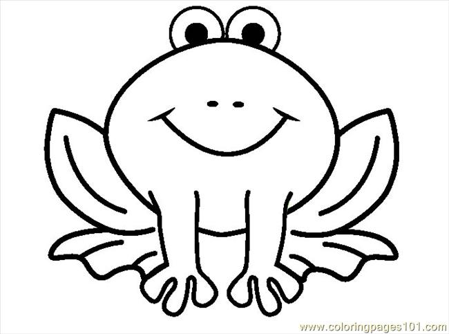 650x483 Free Coloring Pages Of Frog Outline 9747,