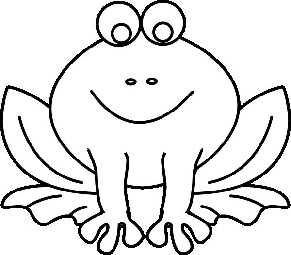 600x526 Frog Outline Clip Art