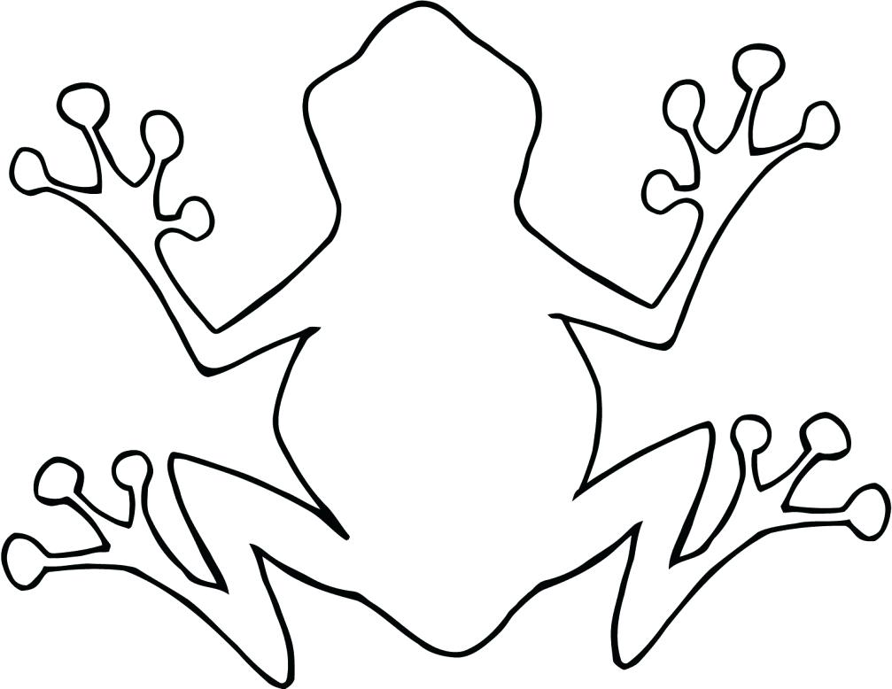 1007x778 Frogs Clipart Simple Frog Outline Wallpaper A Free Latest