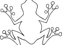 207x150 Outline Of A Frog Wallpaper Download