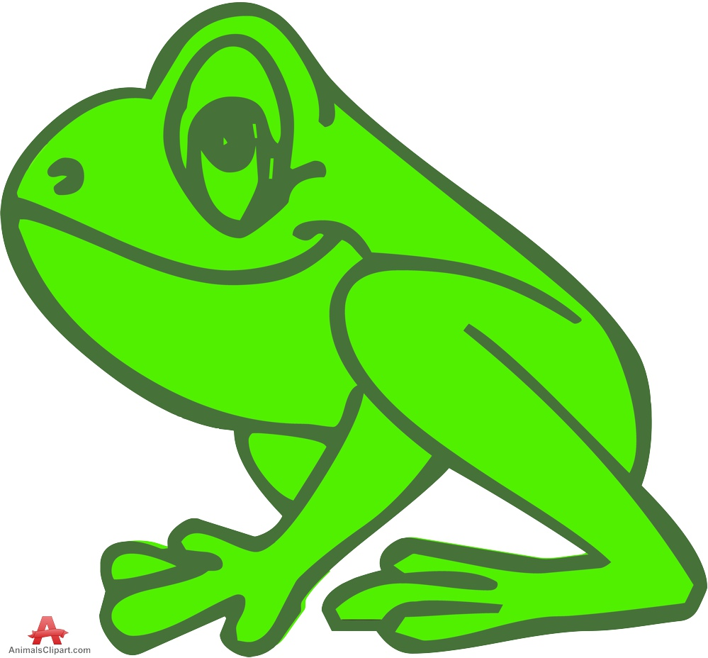 999x928 Outline Colored Frog Clipart Free Design Download