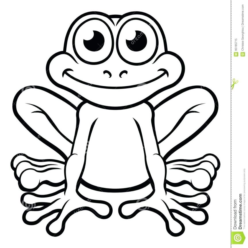 863x862 Royalty Free Vector Frog Outline Pictures Picture Tattoo Frog