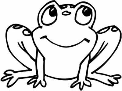 400x297 Coloring Page Frog Simple Tiger Outline Free Coloring Pages