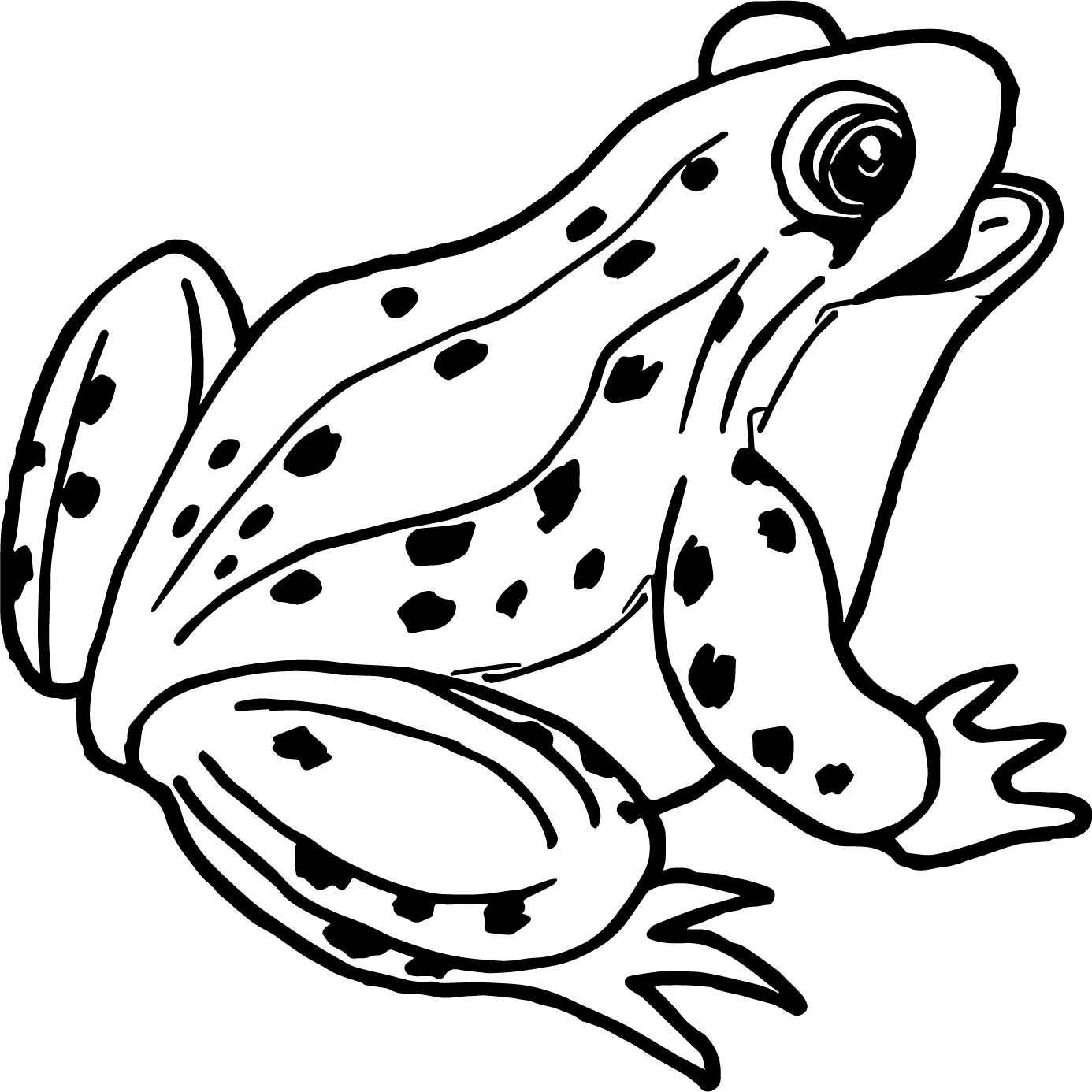 Frog outline free download best frog outline on for Free printable frog coloring pages
