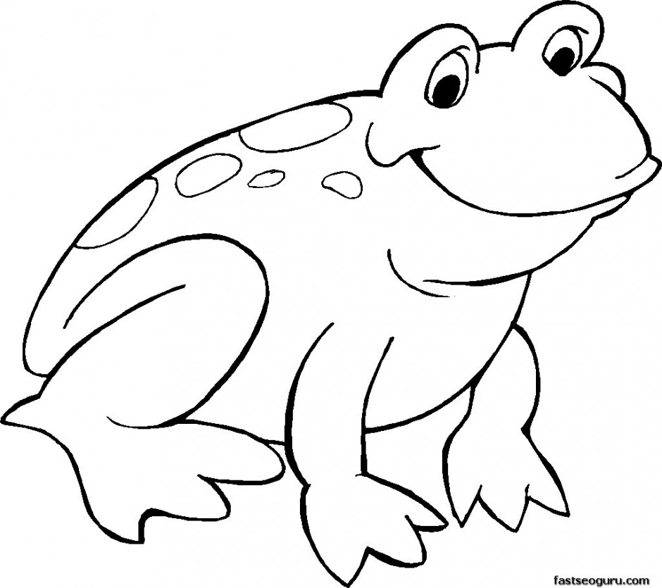 940x835 Clipart Of Frog Outline