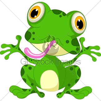 325x325 Frog Cartoon Doing Yoga Gl Stock Images