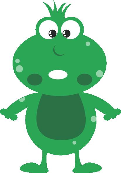 414x592 Green Frog Cartoon Clip Art