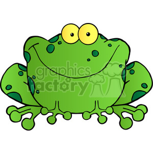 300x300 Royalty Free 102492 Cartoon Clipart Happy Frog Cartoon Character