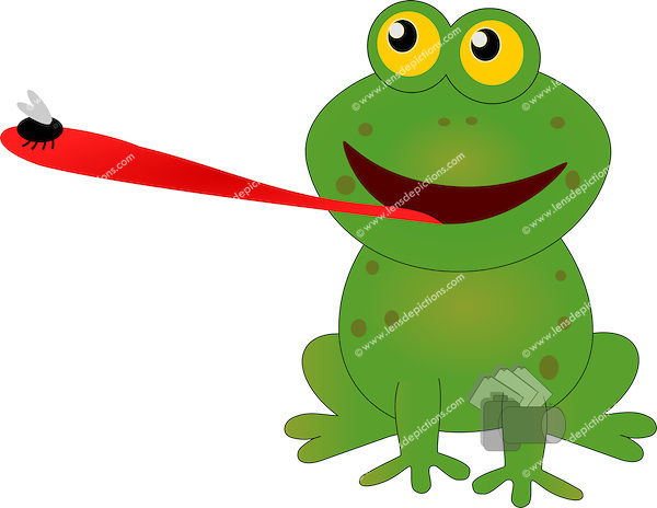 600x464 Tongue Clipart Frog Tongue