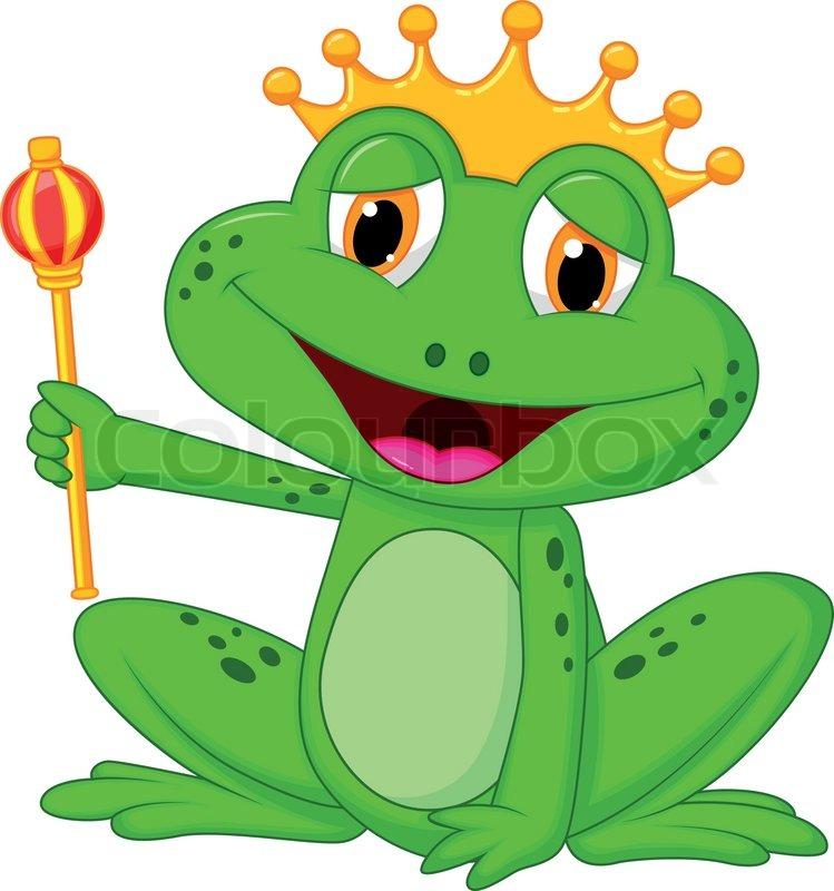 749x800 Vector Illustration Of Frog King Cartoon Stock Vector Colourbox