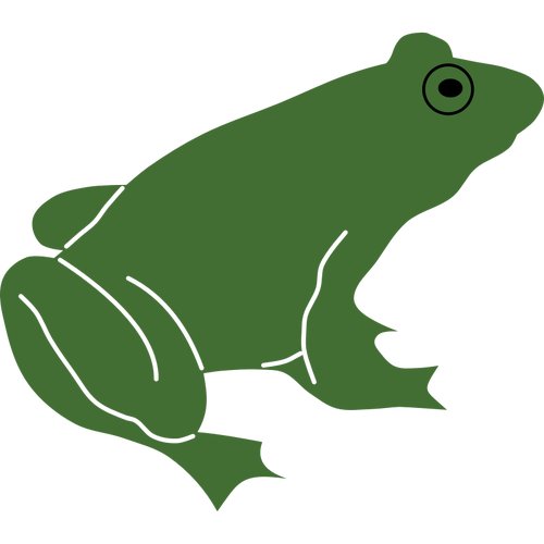 Frog Silhouette Clipart