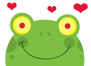 300x217 Frog Love Clipart Image