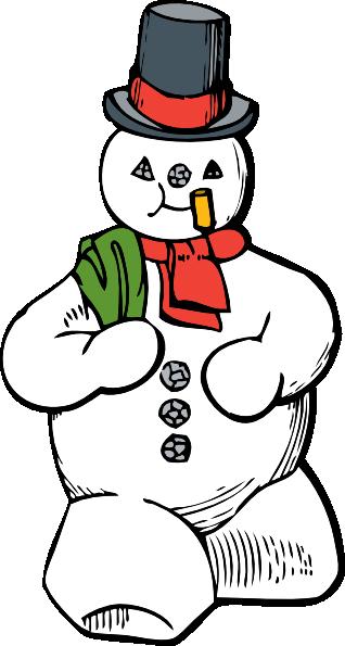 318x595 Snowman Clip Art