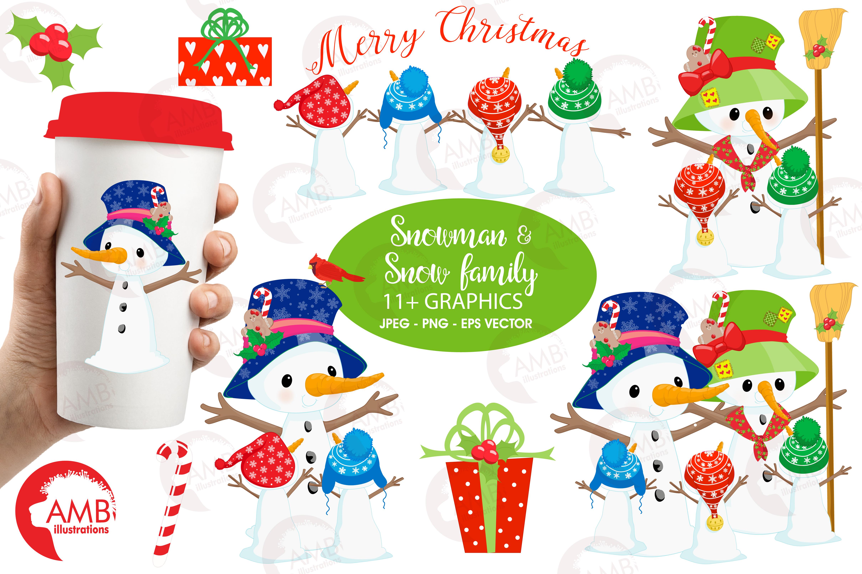 4833x3217 Snowman Clipart, Christmas Clipart, Fro Design Bundles