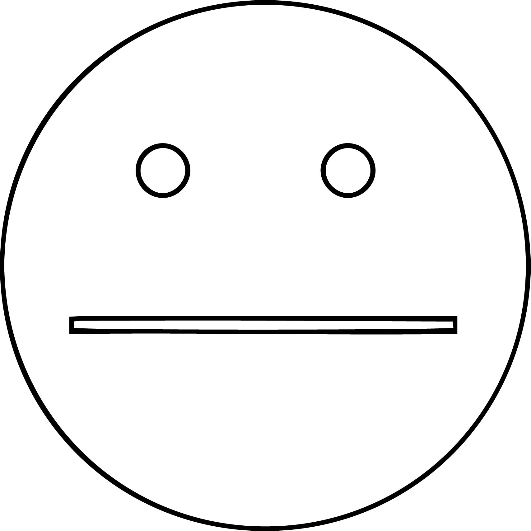 Frowny Face Black And White | Free download best Frowny Face Black ...