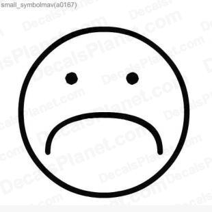 310x310 Sad Face Decal, Vinyl Decal Sticker, Wall Decal