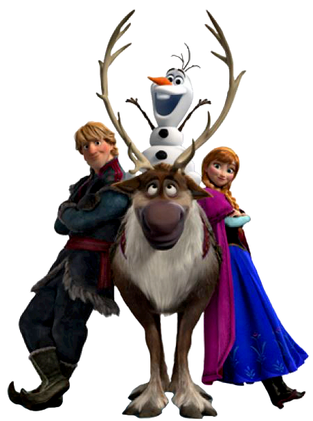 452x608 Frozen Olaf Anna Png