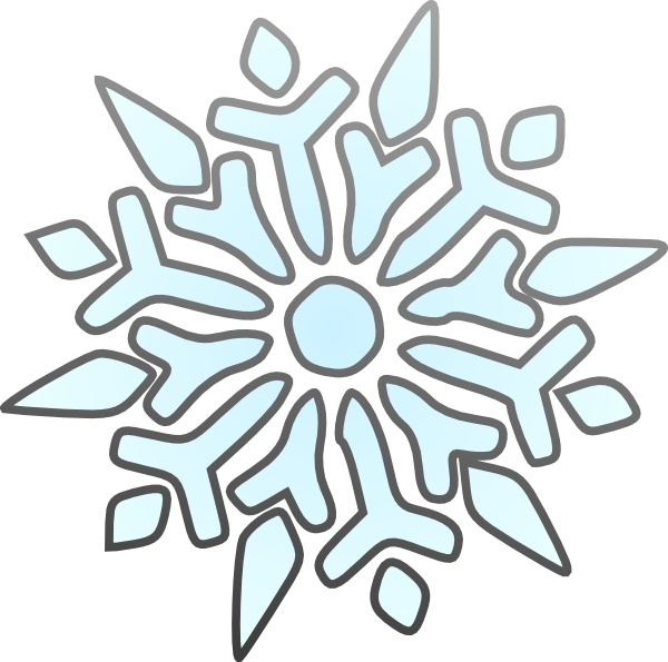 600x595 Erik Single Snowflake Clip Art Free Vector In Open Office Drawing