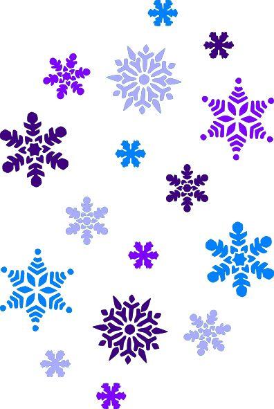 396x591 Silver Frozen Snowflake Clipart