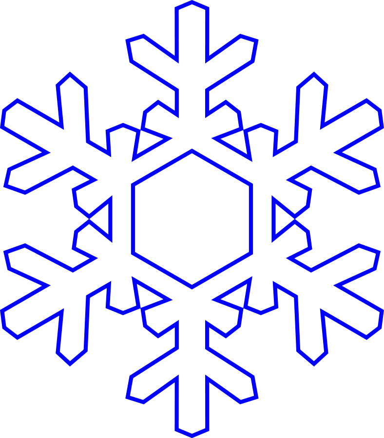 788x900 Snowflake (Simply) Clipart Large Size Snowflake