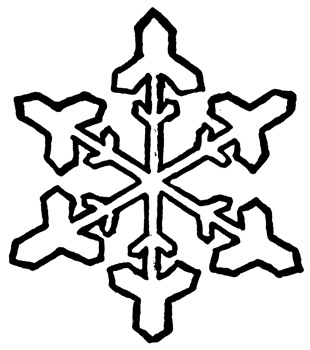 310x350 Snowflake Clipart Black And White Clipart Panda